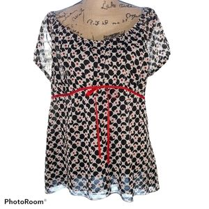 Cato Babydoll Style Floral Top Sz XL